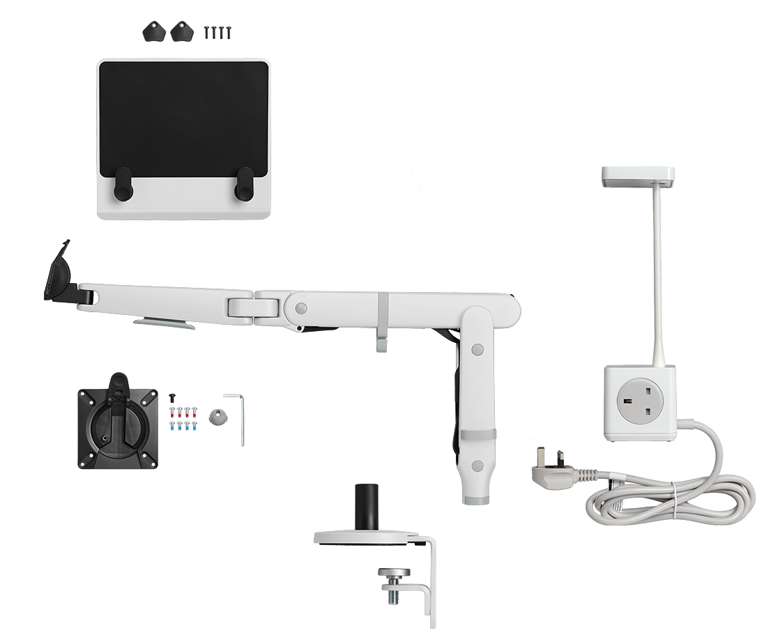 Ollin with Split mount clamp, Laptop Mount and Cubert