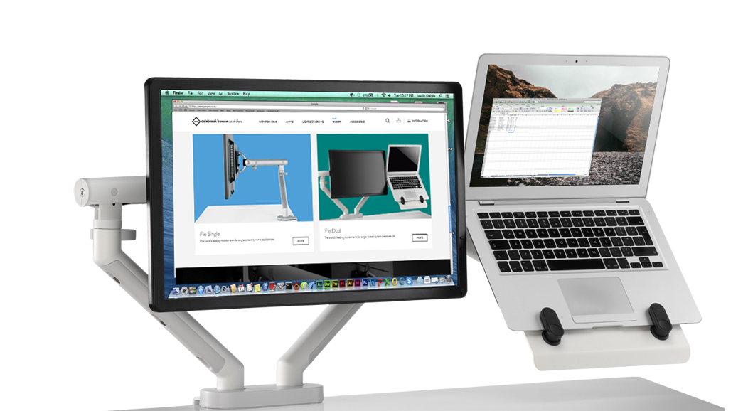 Flo Dual Monitor Arms Colebrook Bosson Saunders