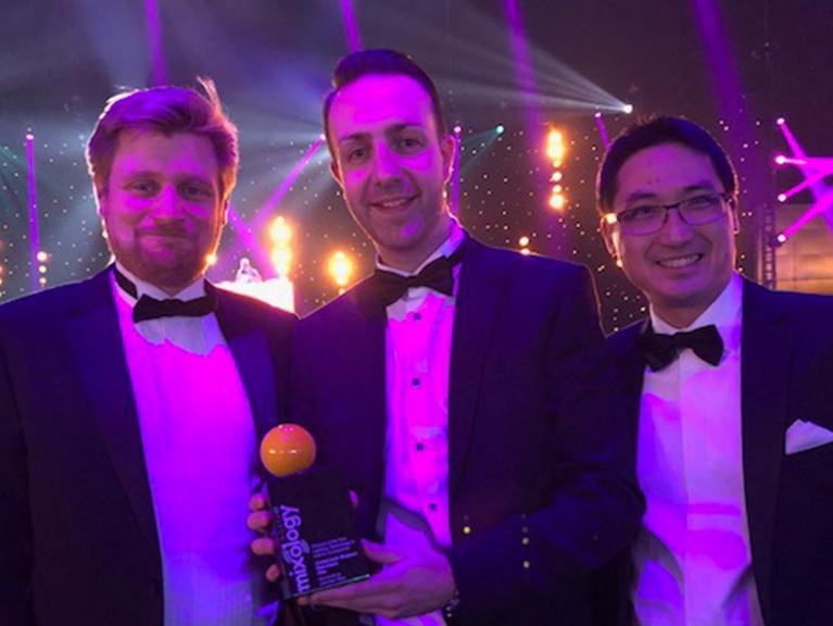 Adam_Jaimie_Alex_with_Award