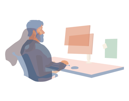 Illustration of an agile workstation