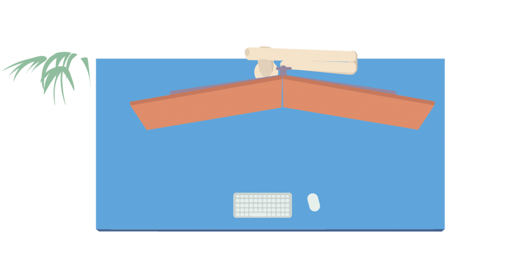 Illustration of Dual Monitor Arm