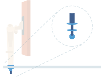 Through-Desk Mount Diagram