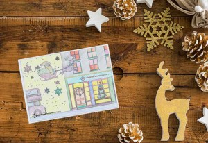 Christmas-card-table